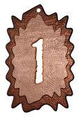 3d bronze um número — Fotografia Stock