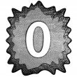 3d metal zero number — Stockfoto