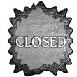 3d metal closed sign — Stock Photo