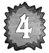 3d metal four number — Stock Photo