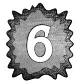 3d metal six number — Stock Photo