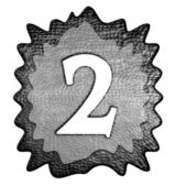 3d metal two number — Stock Photo