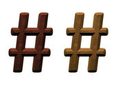 One letter of wooden alphabet. Computer generated 3D photo rendering. — Stock Photo