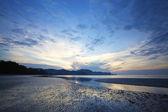 View of a sunrise over Ao Nang beach — Stock Photo
