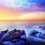 Rainbow Prime planet fantasy seascape — Stock Photo