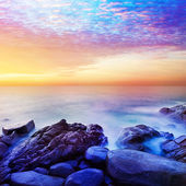 Rainbow Prime planet fantasy seascape — Stock Photo