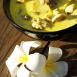 Tom Kha Gai - traditional thai soup - Stock Photo