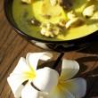 Tom Kha Gai - traditional thai soup — Stock Photo