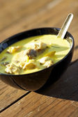 Tom Kha Gai - traditional thai soup — Stock Photo