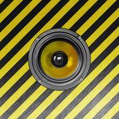 Stylish metallic loudspeaker — Stock Photo