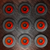 Wall-o-sound in red — Stock Photo