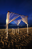 Tropical seaside cafe at night — Stock Photo