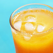 Closeup of a glass of orange juice — Stock Photo
