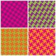 Постер, плакат: Colorful Houndstooth Patterns