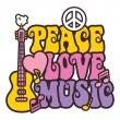 Peace-Love-Music_Brights — Stockvektor