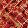 Royalty-Free Stock Vector Image: Skeleton Key Pattern_Red