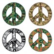 Stock Vector: Peace Camos