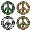 Peace Camos — Stock Vector