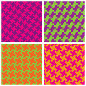Colorful Houndstooth Patterns — Stock Vector