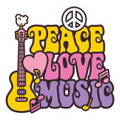 Peace-Love-Music_Brights — Stock Vector
