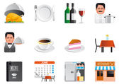 Restaurant icons — Stock Photo
