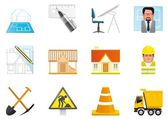 Architecture and construction icons — Stock Photo