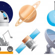 Space icons — Stock Photo