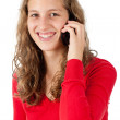 Attractive young girl speaking on cellphone — Stock Photo #10235793