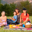 Pepole on picnic — Stock Photo