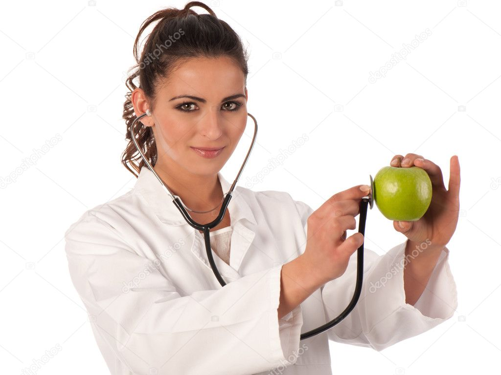 Young doctor with stethoscope  Stock Photo #8878439