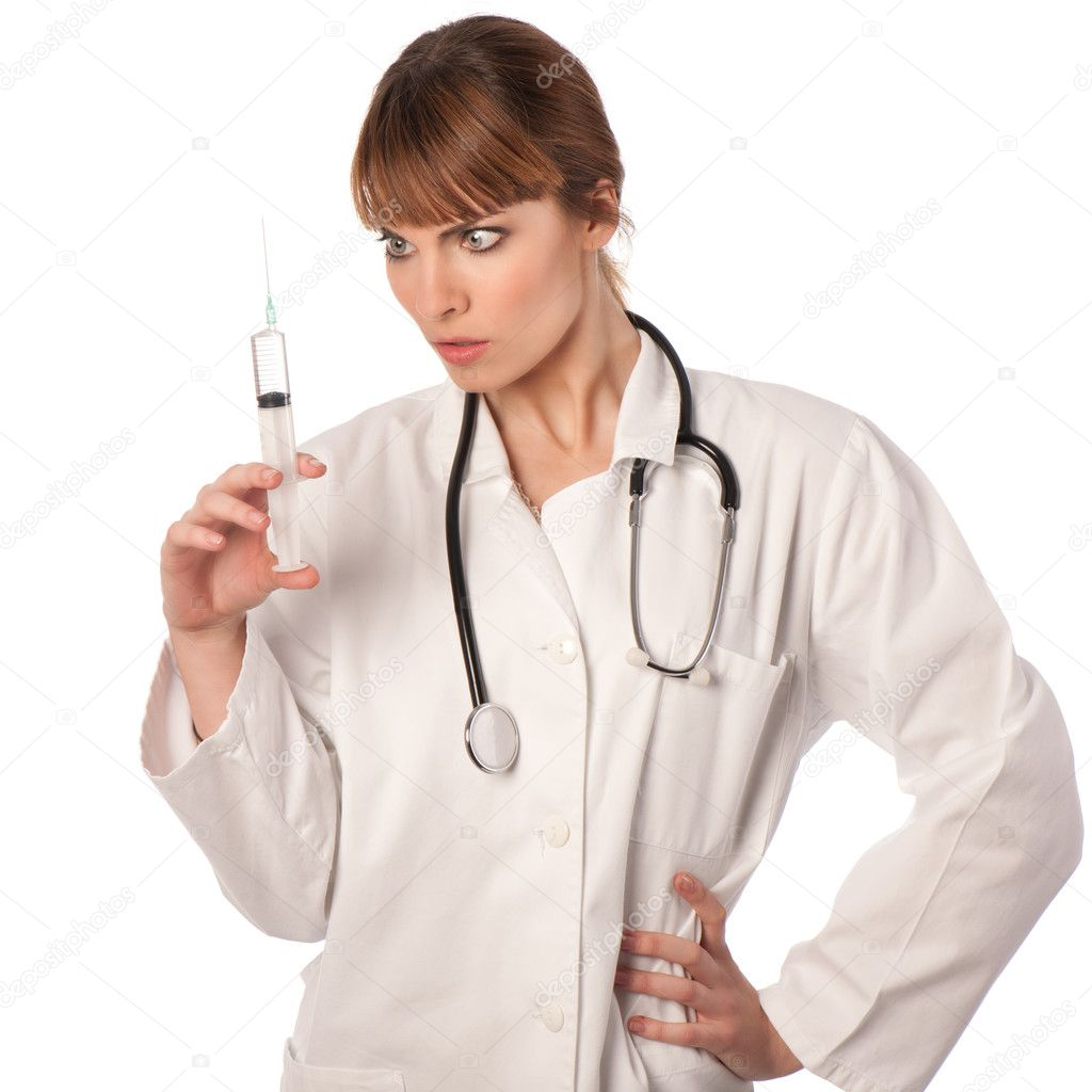 Young doctor with stethoscope  Stock Photo #8878444