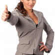 Young cute business woman — Stock Photo