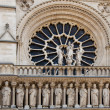 Detail of Notre Dame in Paris. Statues — Stock Photo