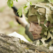 Camouflaged military man — Stock Photo #10564006
