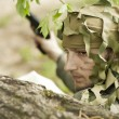 Camouflaged military man — Stock Photo