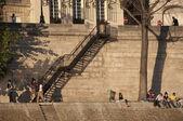 Sur la rive de paris — Photo