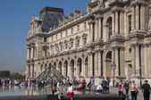 Glass Pyramid at the Louvre Museum — Stock Photo