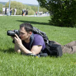 Stock Photo: Nature photographer