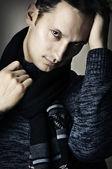 Fashion portrait of young stylish sexy man — Stock Photo
