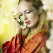 Fashion fairytale portrait of young beautiful woman — Stock Photo