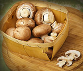 Champignon mushrooms with brown variety — Stock Photo