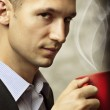 Man having a cup of coffee — Stock Photo