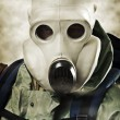Man in gas mask - Stock Photo