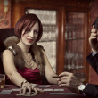 Luxury life. Poker players — Stock Photo