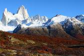 Paysage naturel magnifique avec Mont fitz roy, comme on le voit dans los glaciares national park, Patagonie, Argentine — Photo