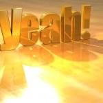 3D Yeah Gold Text — Stock Photo #10550111