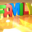 Word Family on yellow background — Stock Photo