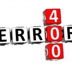 3D Error 400 Crossword — Stock Photo