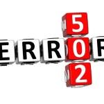 3D Error 502 Crossword — Stock Photo