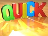 Word Quick on yellow background — Stock Photo